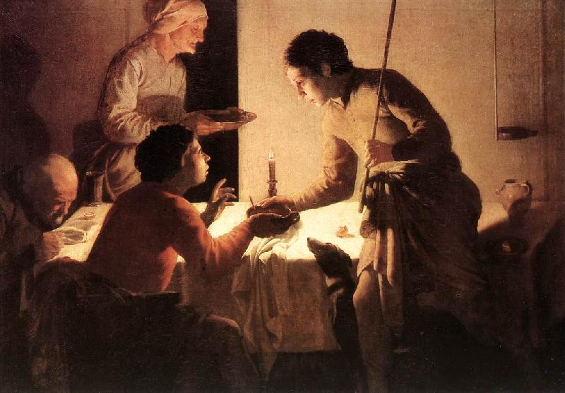 TERBRUGGHEN, Hendrick The Supper  et oil painting image