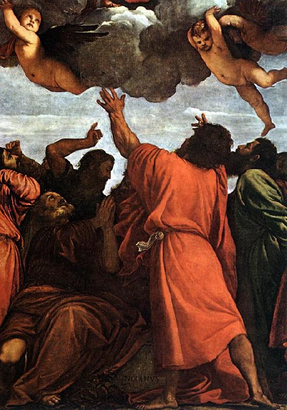 TIZIANO Vecellio Assumption of the Virgin (detail) rt oil painting image