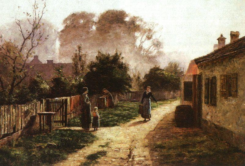 Theodore Clement Steele Village Scene oil painting image