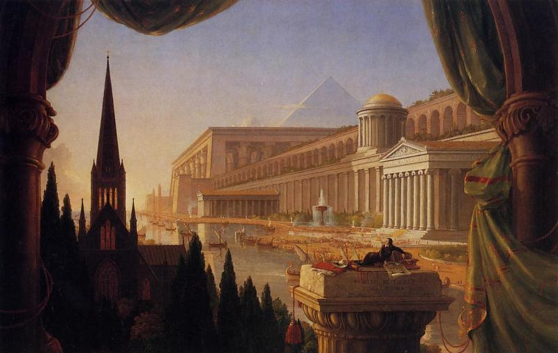 Thomas Cole Architect s Dream oil painting image