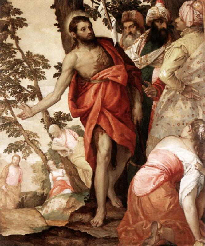 VERONESE (Paolo Caliari) St John the Baptist Preaching  wr oil painting image