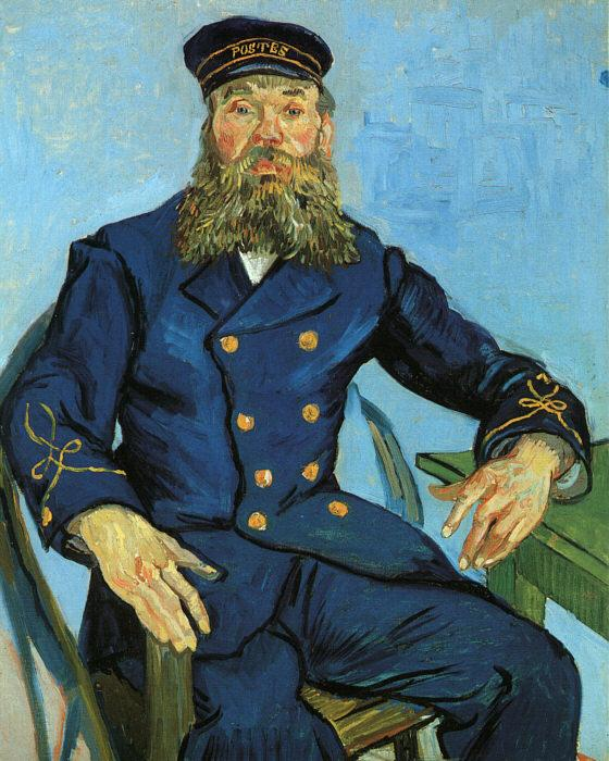 Vincent Van Gogh The Postman, Joseph Roulin oil painting image