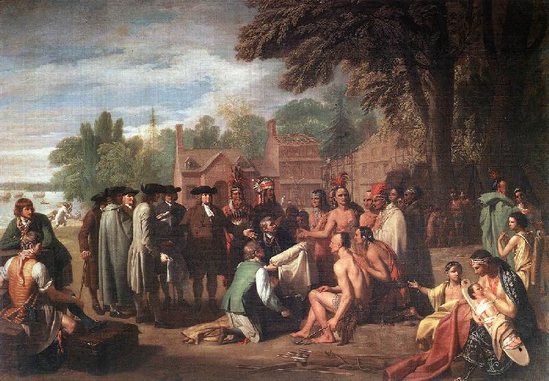 WEST, Benjamin The Treaty of Penn with the Indians.