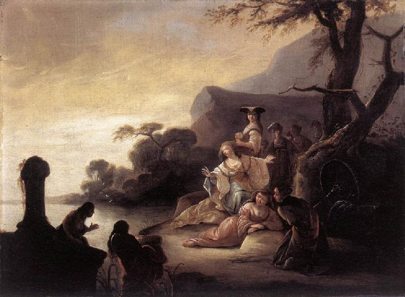 WET, Gerrit de Finding of Moses in the Nile oil painting image