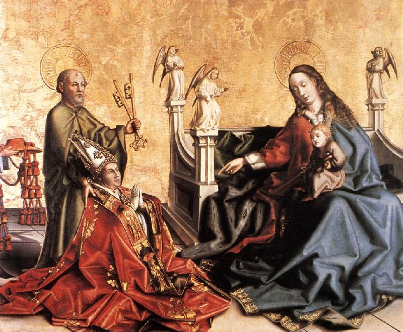 WITZ, Konrad Presentation of Cardinal de Mies to the Virgin r oil painting image