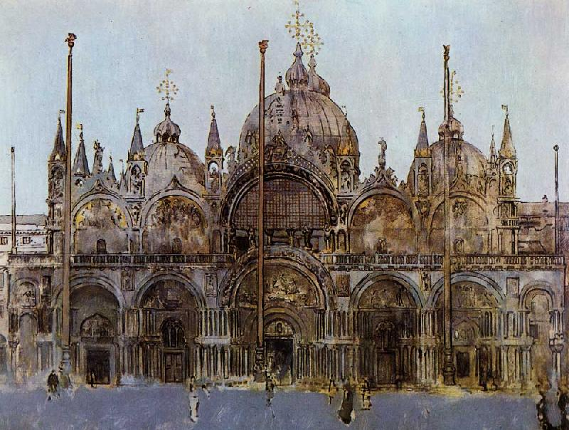 Walter Sickert St Mark's Cathedral, Venice oil painting image
