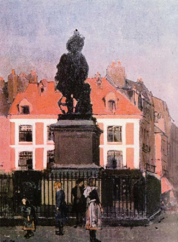 Walter Sickert The Statue of Duquesne, Dieppe oil painting image