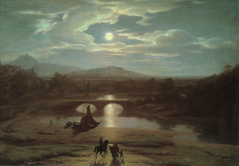 Washington Allston Moonlit Landscape oil painting image