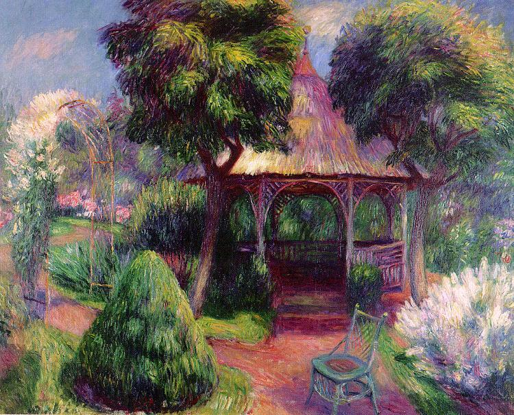 William Glackens Garden at Hartford oil painting image