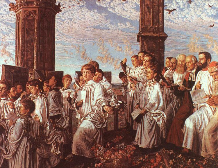William Holman Hunt May Morning on Magdalen Tower oil painting image