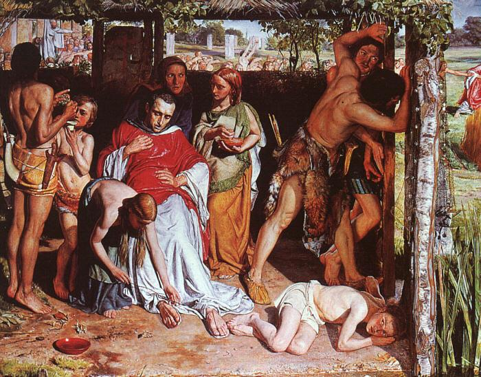 William Holman Hunt A Converted British Family Sheltering a Christian Missionary from the Persecution of the Druids
