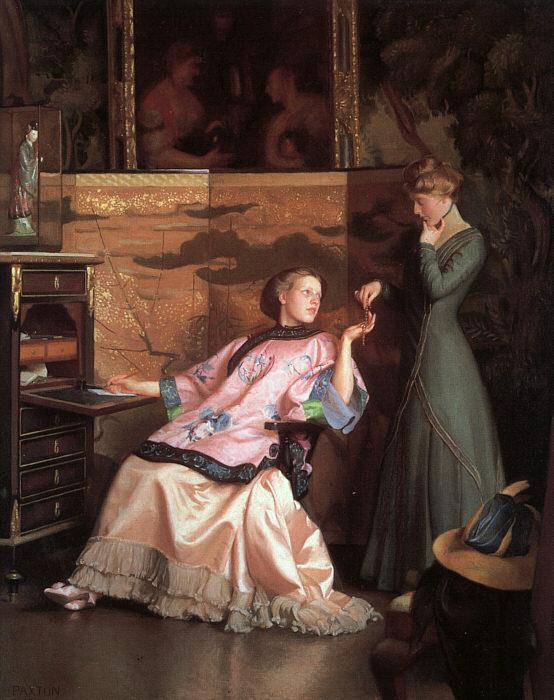 William McGregor Paxton The New Necklace oil painting image