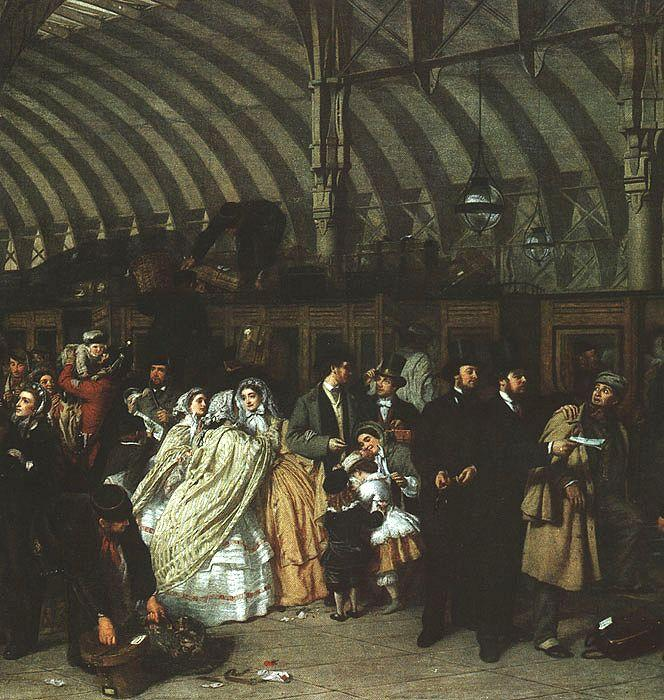 William Powell  Frith The Railway Station oil painting image
