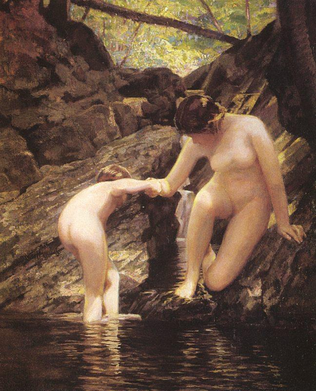 William Sergeant Kendall Bathers oil painting image