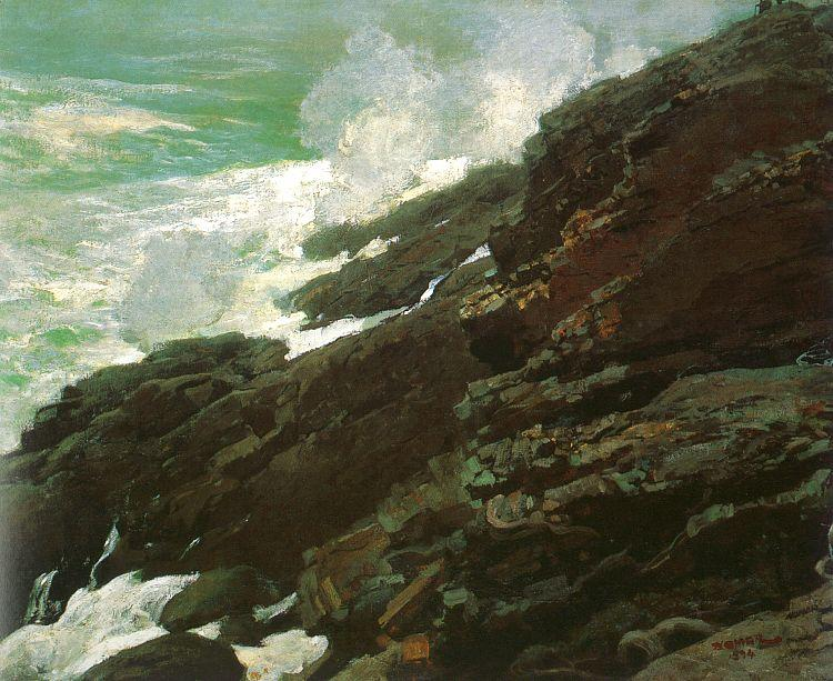Winslow Homer High Cliff, Coast of Maine oil painting image