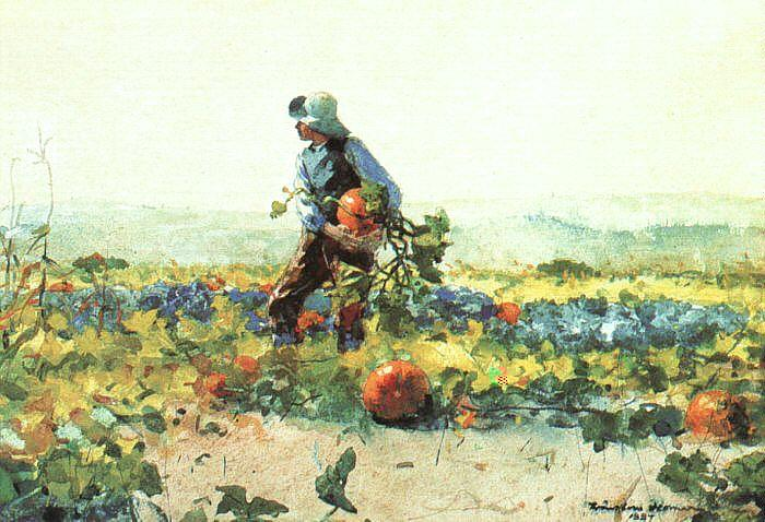 Winslow Homer For to be a Farmer's Boy oil painting image