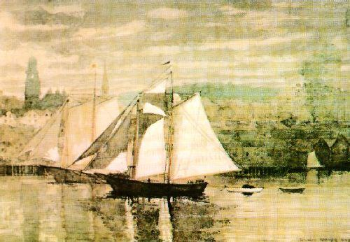 Winslow Homer Gloucester Schooners and Sloop oil painting image