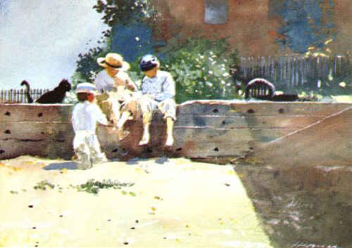 Winslow Homer Boys Kitten oil painting image