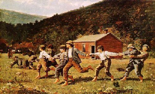 Winslow Homer Snap-the-Whip oil painting image