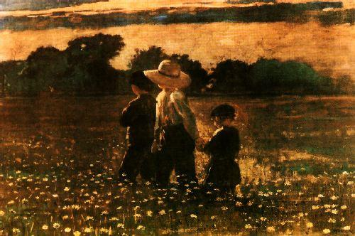 Winslow Homer In the Mowing oil painting image