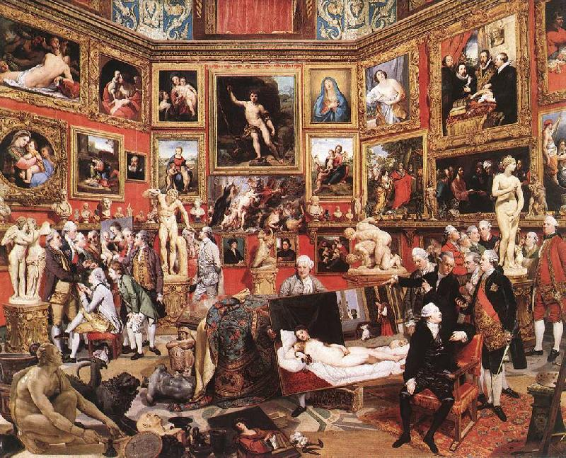 ZOFFANY  Johann The Tribuna of the Uffizi oil painting image