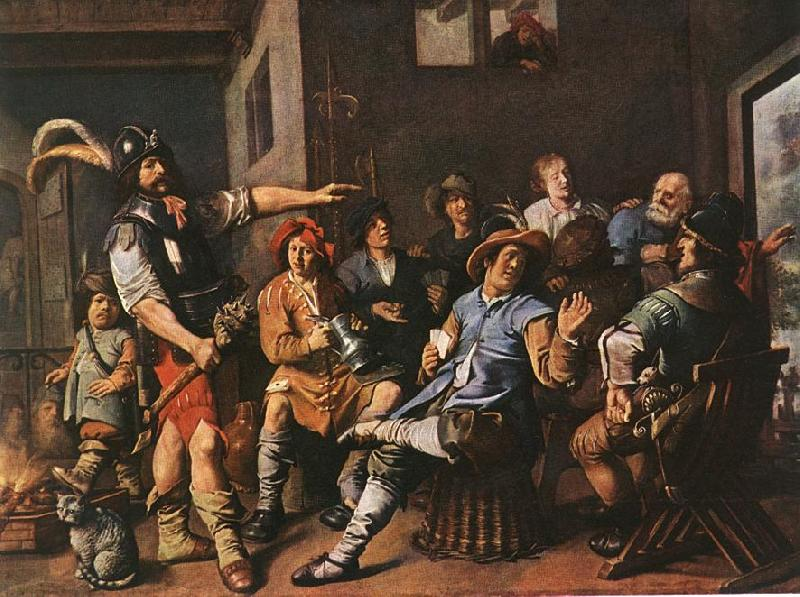 MOLENAER, Jan Miense The Denying of Peter sdg oil painting image