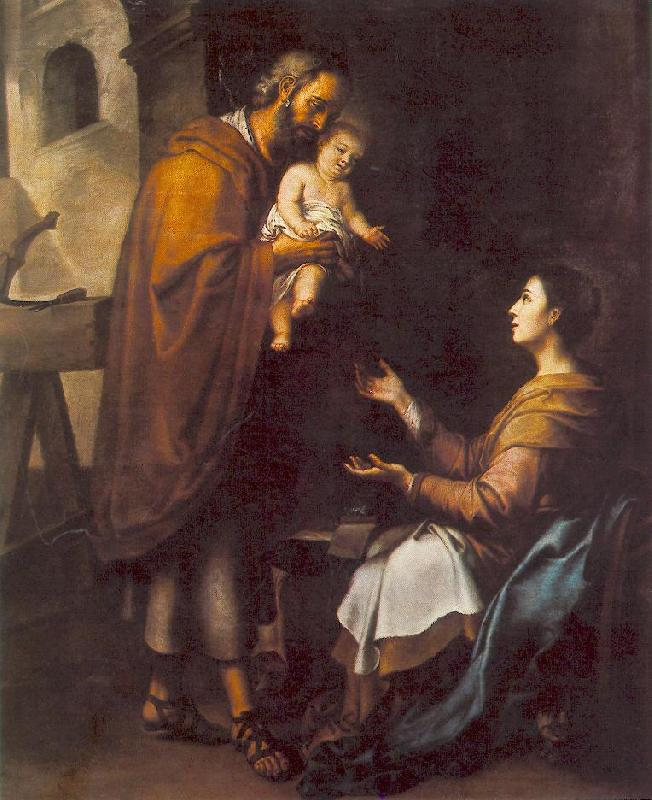 MURILLO, Bartolome Esteban The Holy Family g oil painting image