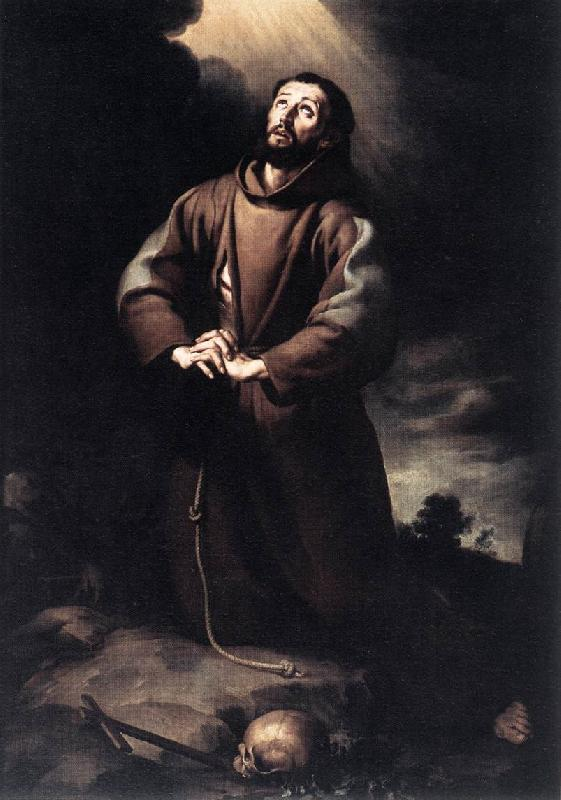 MURILLO, Bartolome Esteban St Francis of Assisi at Prayer sg oil painting image