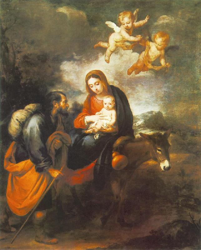 MURILLO, Bartolome Esteban Flight into Egypt sg oil painting image