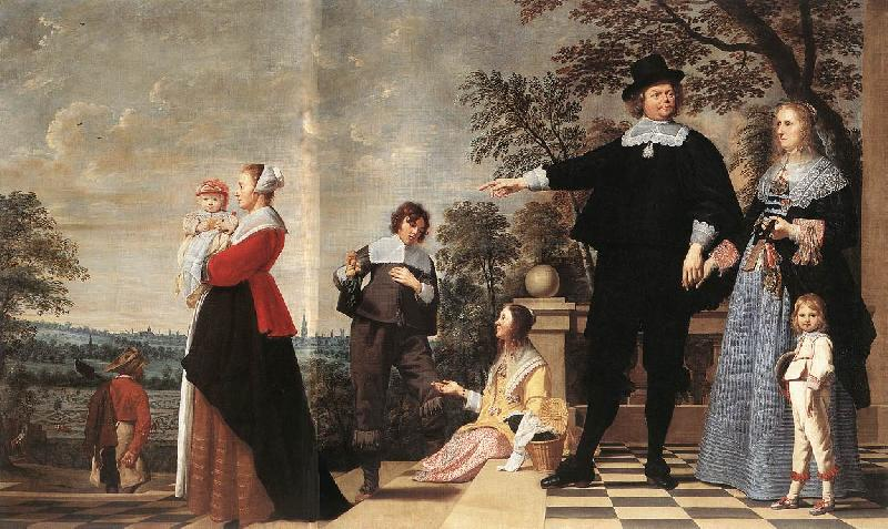 OOST, Jacob van, the Elder Portrait of a Bruges Family a oil painting image