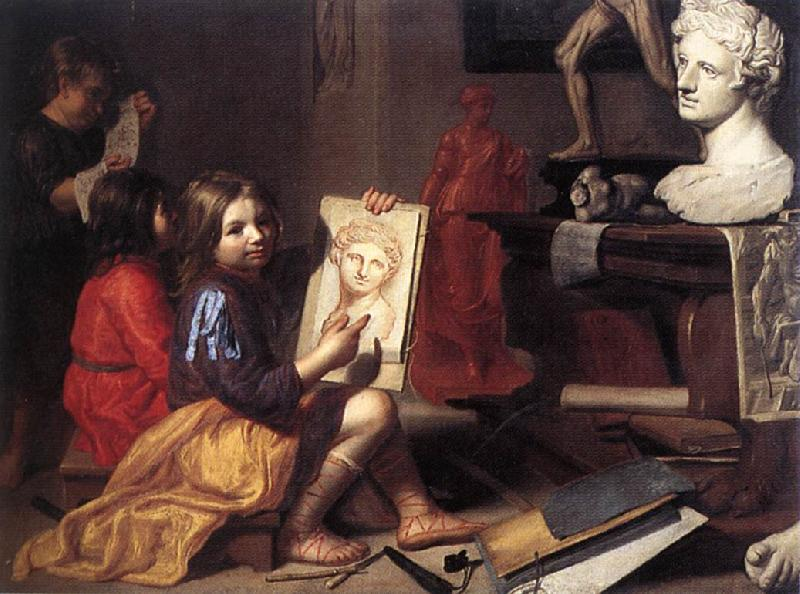OOST, Jacob van, the Elder The Artist's Studio zga oil painting image