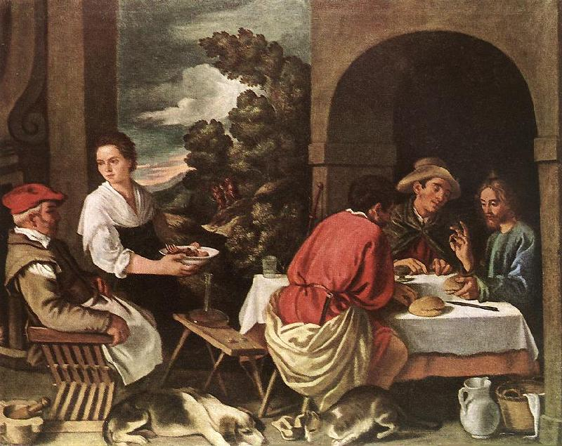 ORRENTE, Pedro The Supper at Emmaus ag oil painting image