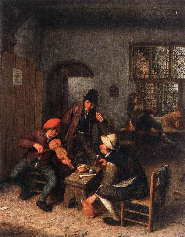 OSTADE, Adriaen Jansz. van Interior of a Tavern with Violin Player sg oil painting image
