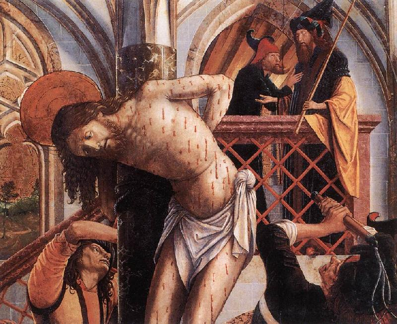 PACHER, Michael Flagellation agy oil painting image