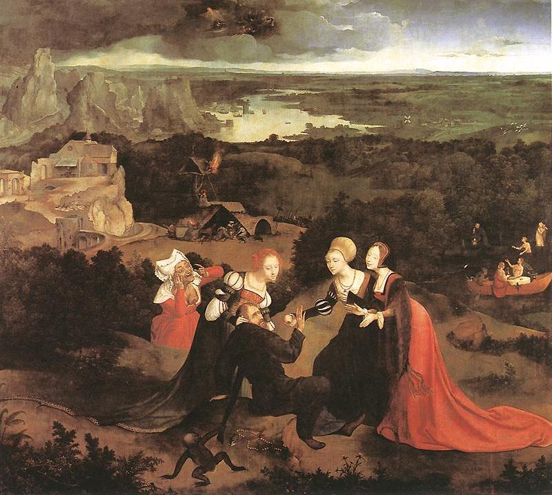 PATENIER, Joachim Temptation of St Anthony ag oil painting image