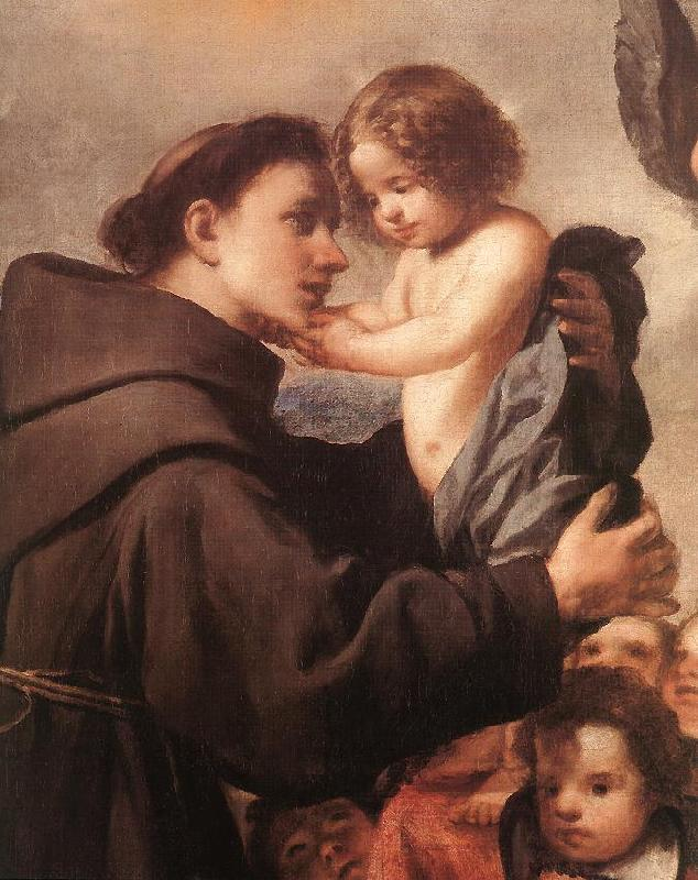 PEREDA, Antonio de St Anthony of Padua with Christ Child (detail) wsg oil painting image