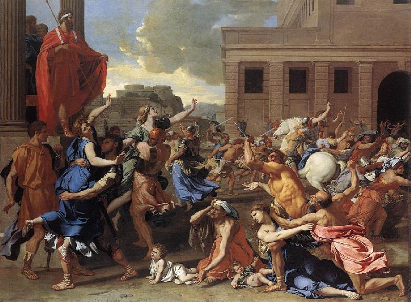 POUSSIN, Nicolas The Rape of the Sabine Women sg oil painting image
