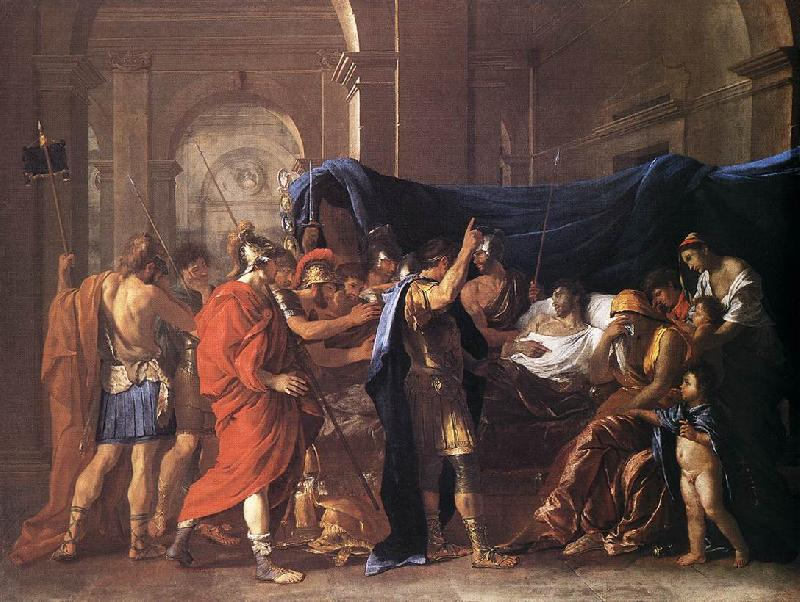 POUSSIN, Nicolas The Death of Germanicus af oil painting image