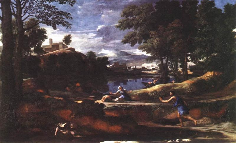 POUSSIN, Nicolas Landscape with a Man Killed by a Snake af