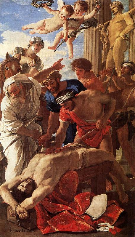 POUSSIN, Nicolas The Martyrdom of St Erasmus sg oil painting image