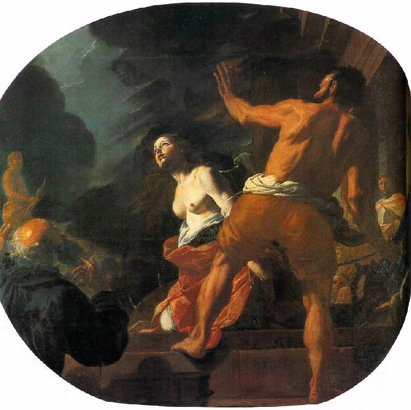 PRETI, Mattia Beheading of St. Catherine ag oil painting image