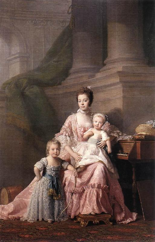 RAMSAY, Allan Queen Charlotte with her Two Children dy oil painting image