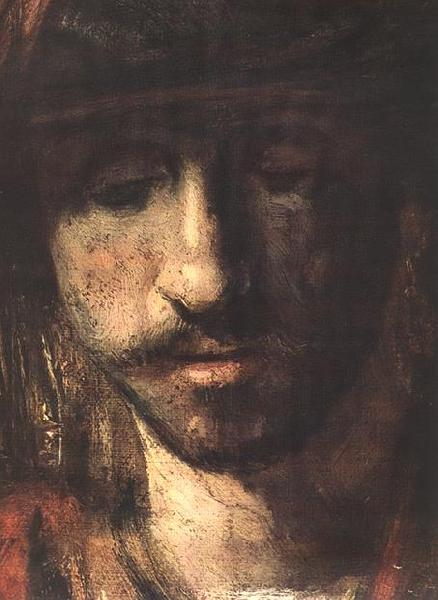 REMBRANDT Harmenszoon van Rijn David and Uriah (detail oil painting image