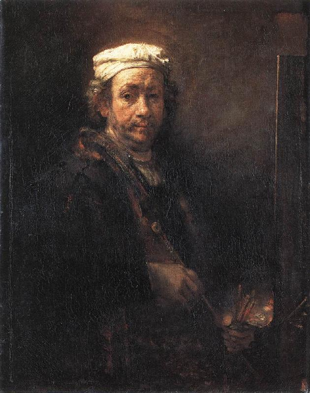 REMBRANDT Harmenszoon van Rijn Portrait of the Artist at His Easel gu oil painting image