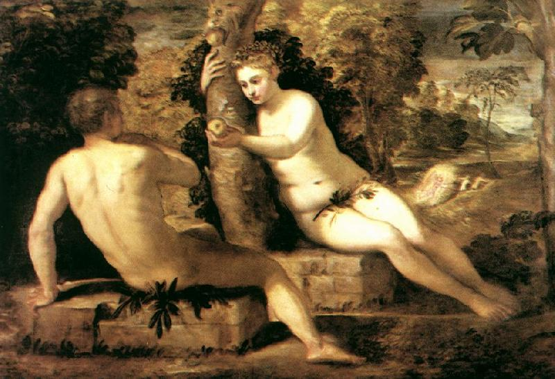 TINTORETTO, Jacopo Adam and Eve ar oil painting image