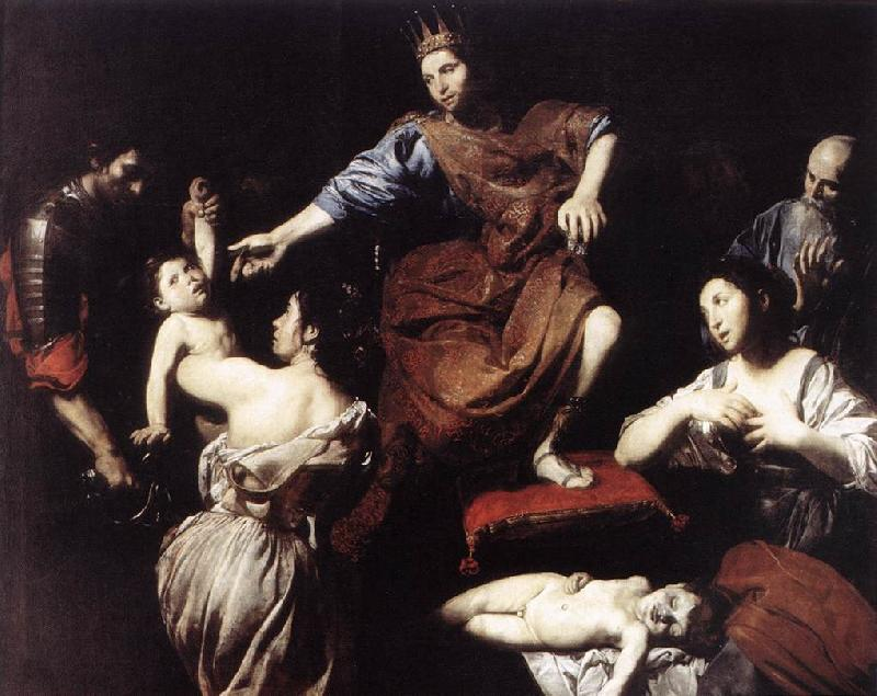 VALENTIN DE BOULOGNE The Judgment of Solomon  at