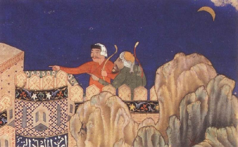 Bihzad The Crescent moon turned downwards