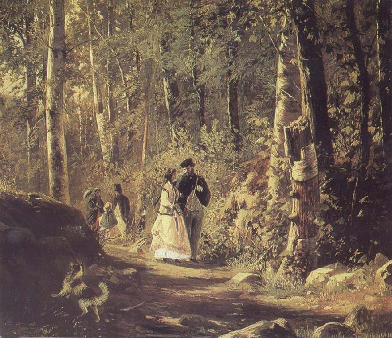 Ivan Shishkin A Stroll in the Forest
