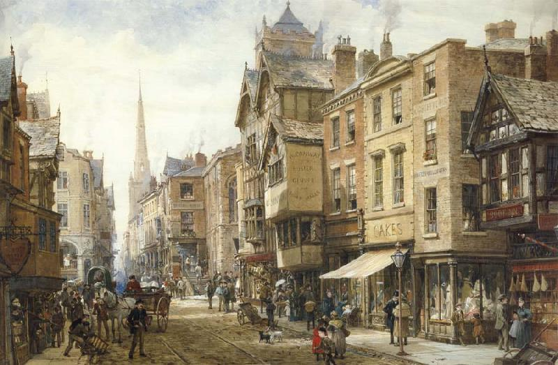 Louise Rayner The Cross,Eastgate,Chester oil painting image