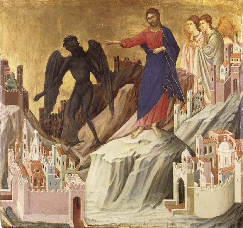Duccio di Buoninsegna The Temptation of Christ on the Mountain